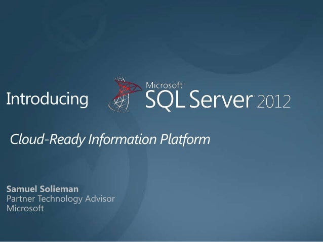 Sql Server 2012 overview and licensing