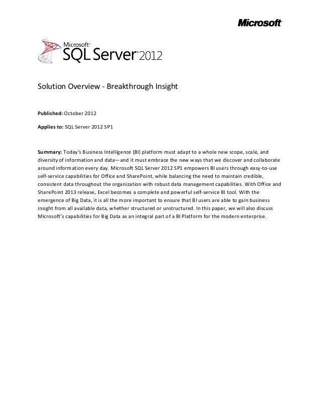 Sql server 2012_sp1_breakthrough_insight_whitepaper