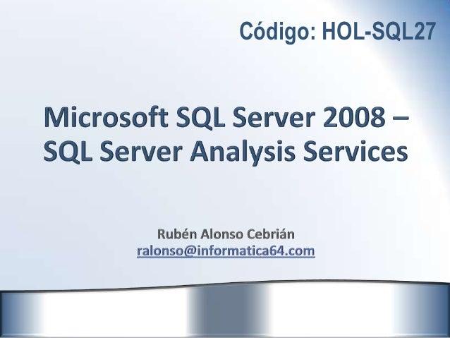 Sql server analysis services 2008