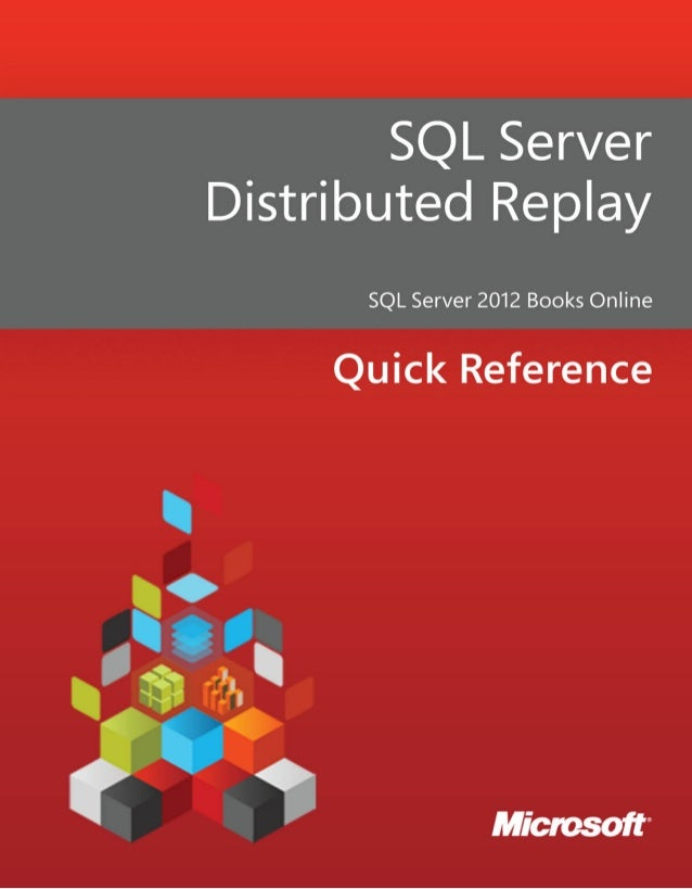 Sql server distributed replay