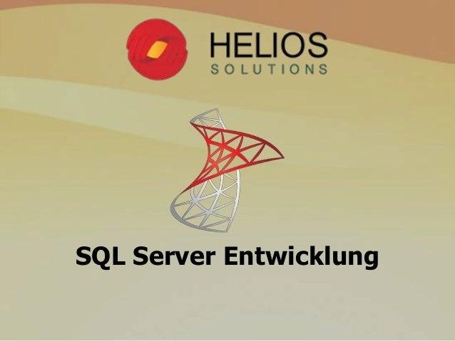 SQL Server Entwicklung