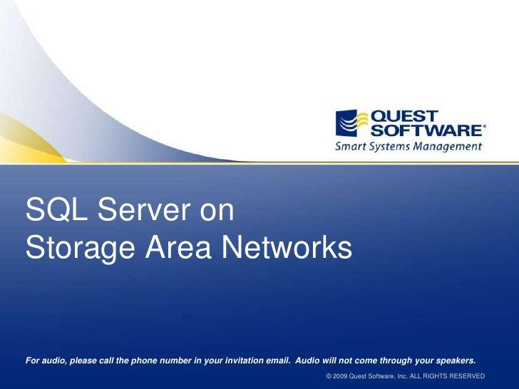 SQL Server On SANs