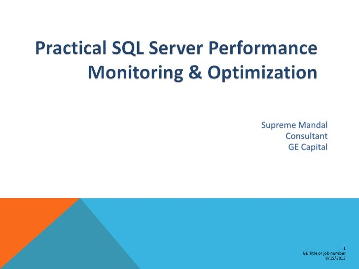 SQL Server Performance Tuning Baseline