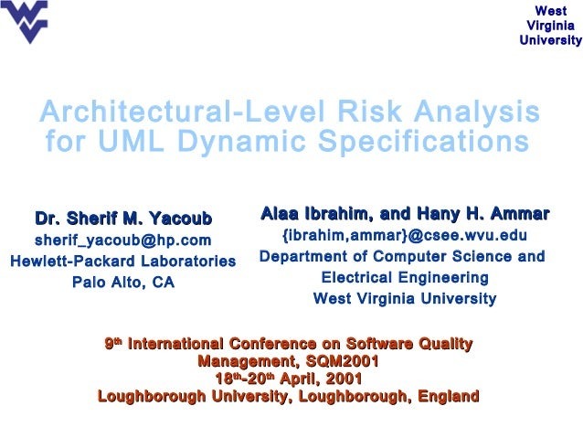Architectural Level Risk Analysis for UML Dynamic Specification