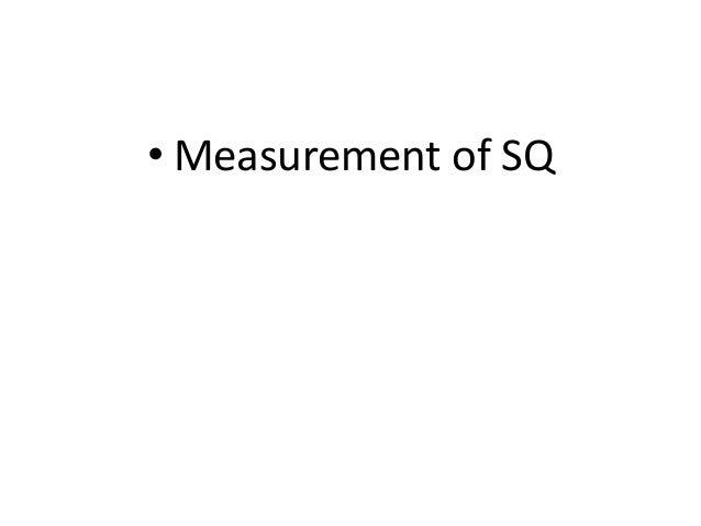 Sq measurement