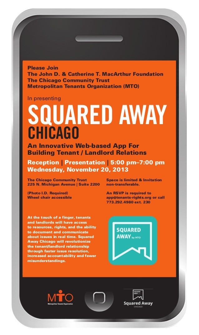 squared away_Layout 1 10/30/13 4:08 PM Page 1  Please Join The John D. & Catherine T. MacArthur Foundation The Chicago Com...