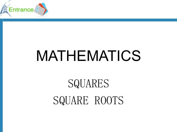 Squares and square roots  ok1296542788