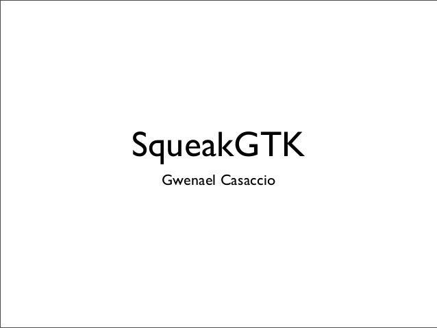 SqueakGTK