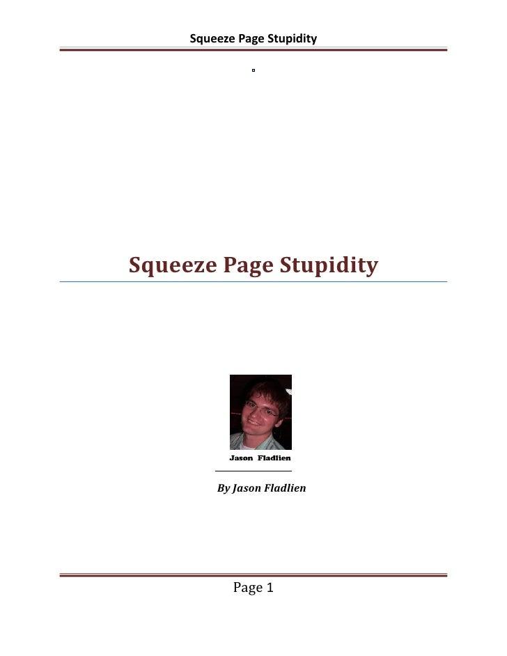 Squeezepage stupidity