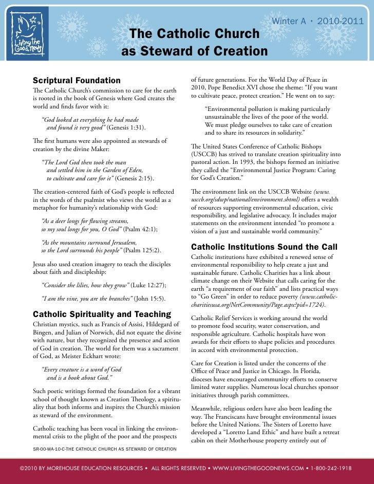 Winter A • 2010-2011                                           The Catholic Church                                        ...