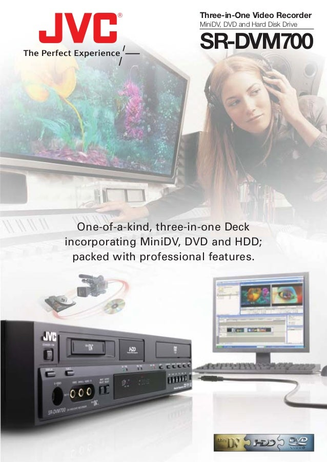 One-of-a-kind, three-in-one Deck incorporating MiniDV, DVD and HDD; packed with professional features. Three-in-One Video ...