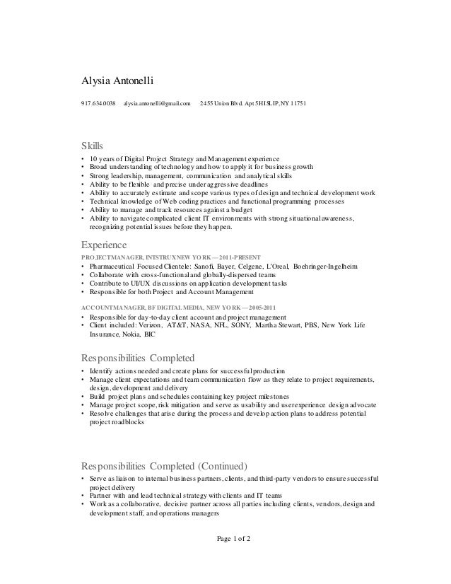 project manager    account manager    business analyst resume