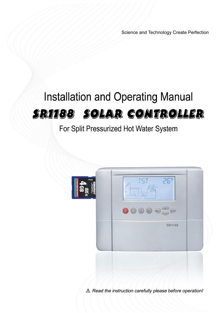 Sr1188 manual-ultisolar-new-energy-co-ltd-solar-water-heaters-controllers-woolf-zhang-ultisolar@gmail.com