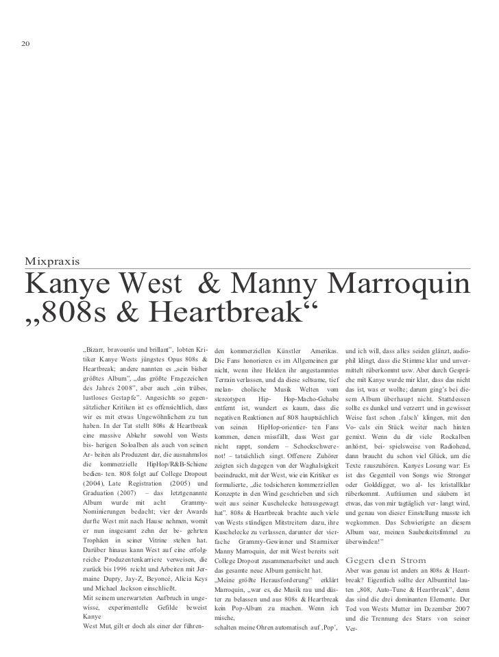 """20     Mixpraxis  Kanye West & Manny Marroquin """"808s & Heartbreak""""             """"Bizarr, bravourös und brillant"""", lobten Kr..."""