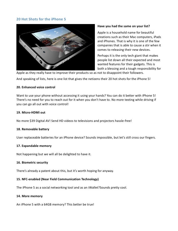 20 Hot Shots for the iPhone 5