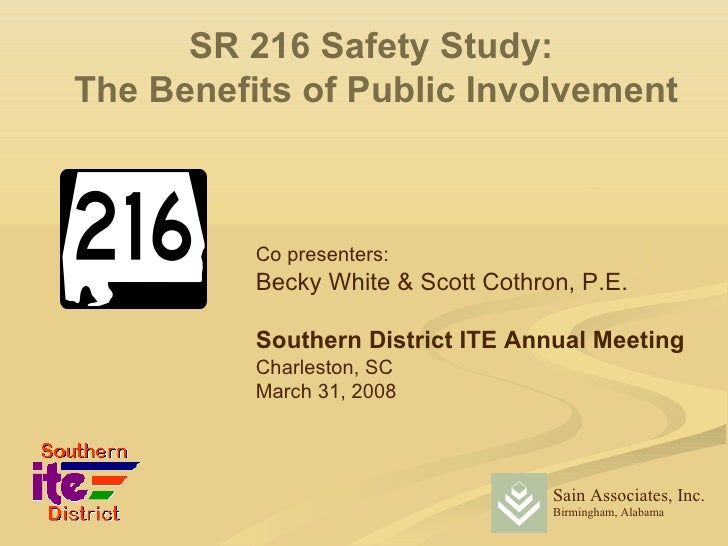 SF 216 Safety Study: The Benefits of Public Involvement