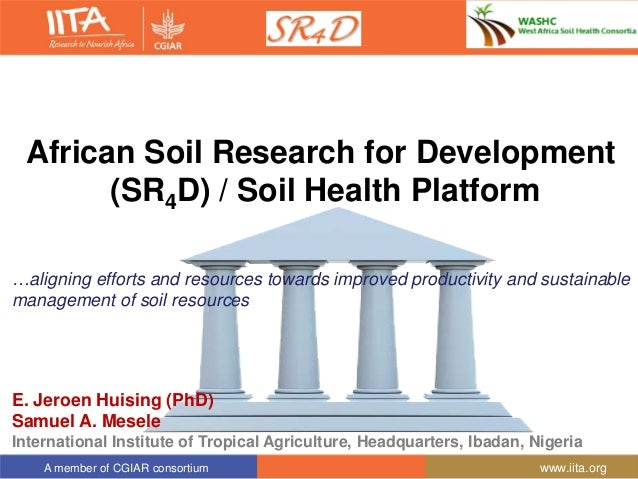 African soil research for development sr4d soil health for Soil research impact factor