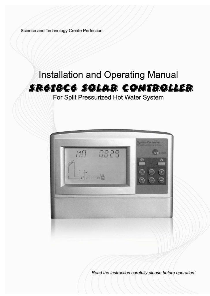 SR618C6 Solar Water Heater Controller for Split Solar Water Heating System