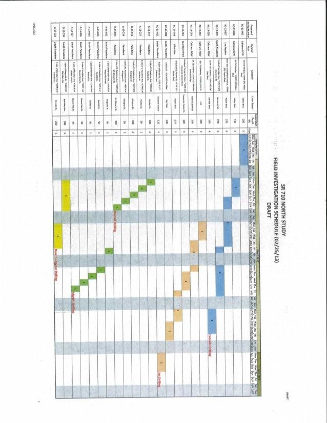 Sr 710 field investigation schedule