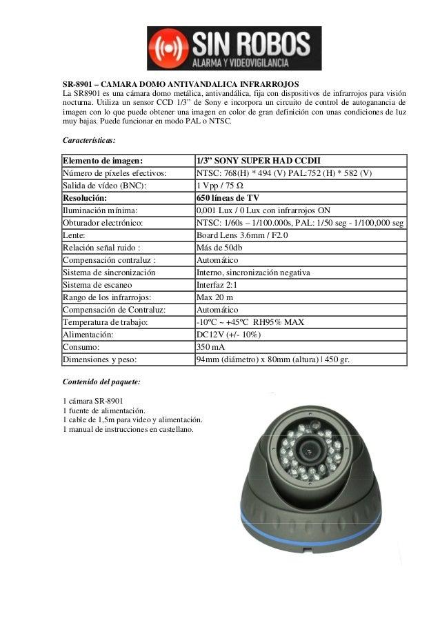 camara domo 700 líneas resolucion SR8901