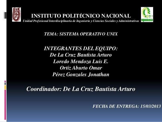 INSTITUTO POLITÉCNICO NACIONALUnidad Profesional Interdisciplinaria de Ingeniería y Ciencias Sociales y AdministrativasTEM...