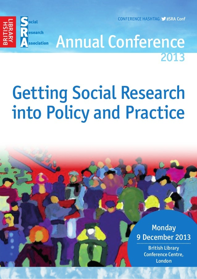 SRA annual conference programme 2013
