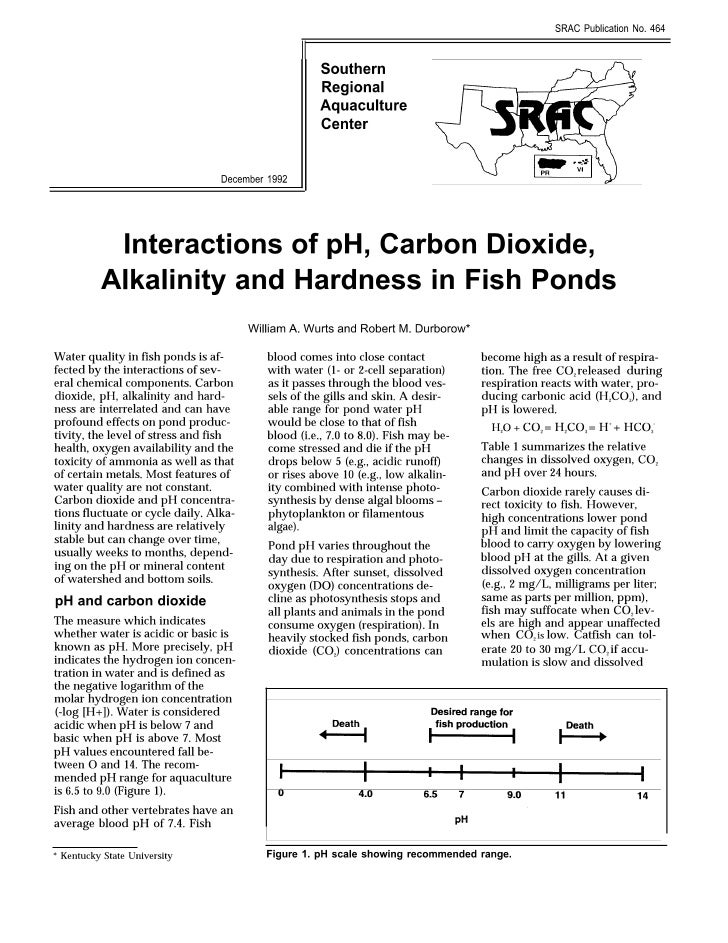 SRAC 464 interactions of-ph-carbon-dioxide-alkalinity-and-hardness-in-fish-ponds