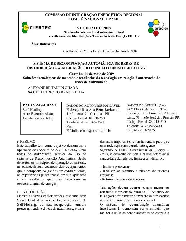 COMISSÃO DE INTEGRAÇÃO ENERGÉTICA REGIONAL COMITÊ NACIONAL BRASIL  VI CIERTEC 2009 Seminário Internacional sobre Smart Gri...