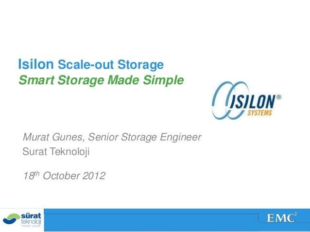 Sürat Teknoloji EMC Forum Isilon Sunumu