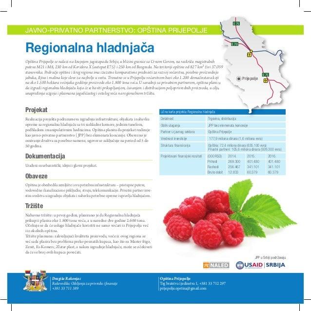Opština Prijepolje - Javno privatno partnerstvo: Regionalna hladnjača