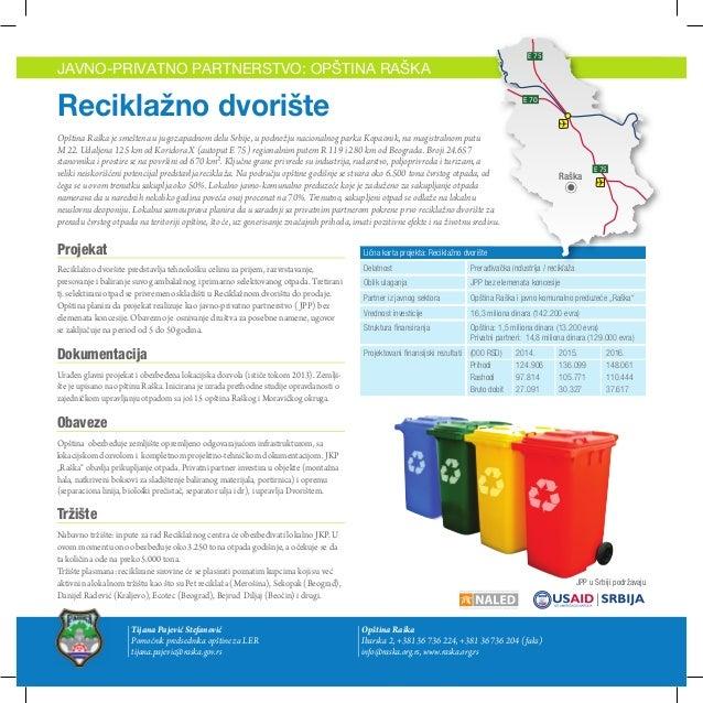 Opština Raška - Javno privatno partnerstvo: Reciklažno dvorište