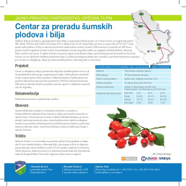 Opština Tutin - Javno privatno partnerstvo: Centar za preradu šumskih plodova i bilja