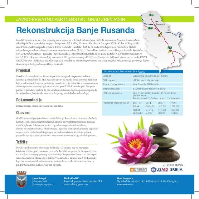 Grad Zrenjanin - Javno privatno partnerstvo: rekonstrukcija Banje Rusanda