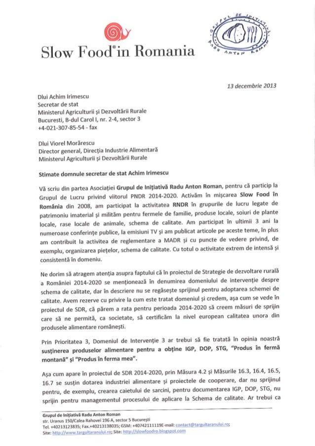 Schema de calitate pentru alimente si PNDR (Food quality schemes and CAP in Romania)