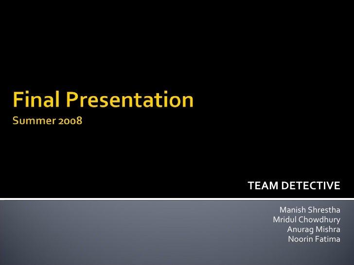 SRD Presentation