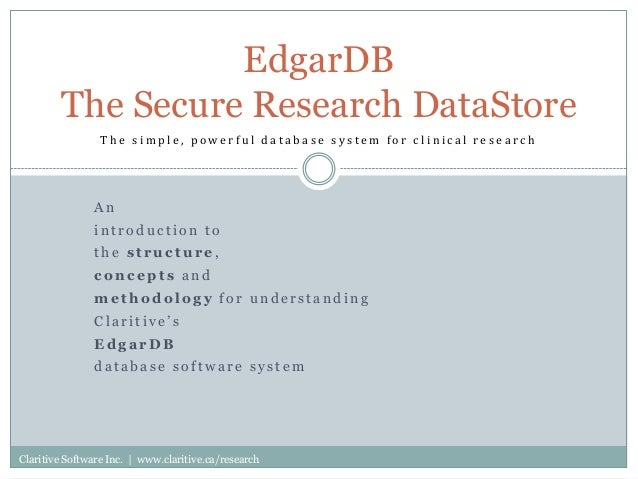 Scientific research database
