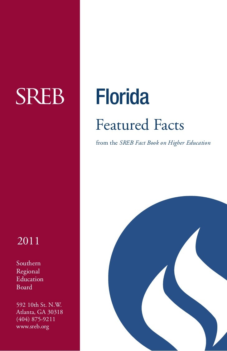 -                    Florida                    Featured Facts                    from the SREB Fact Book on Higher Educat...