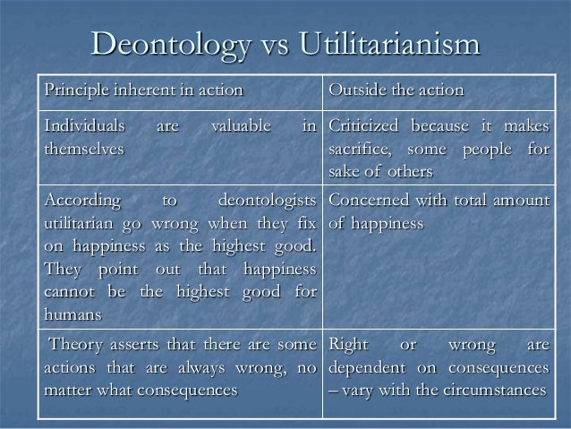 Deontology vs. Consequentialism Essay Sample