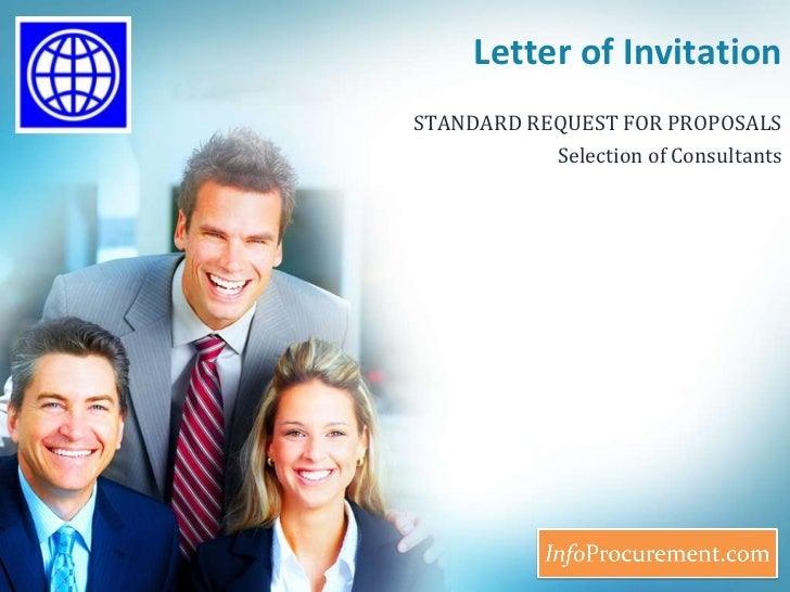 Letter of Invitation<br />STANDARD REQUEST FOR PROPOSALS<br />Selection of Consultants<br />