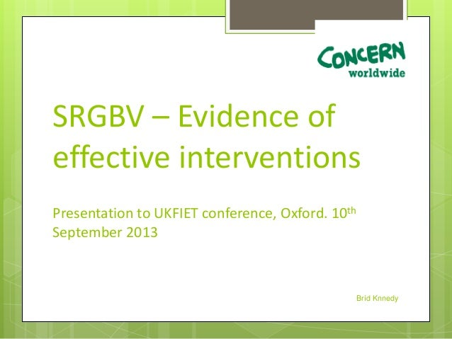 School-related gender-based violence: evidence of effective interventions