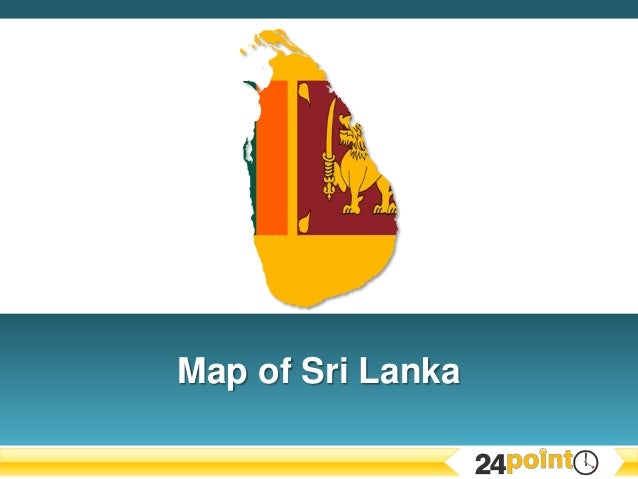 Editable PPT Map of Sri Lanka