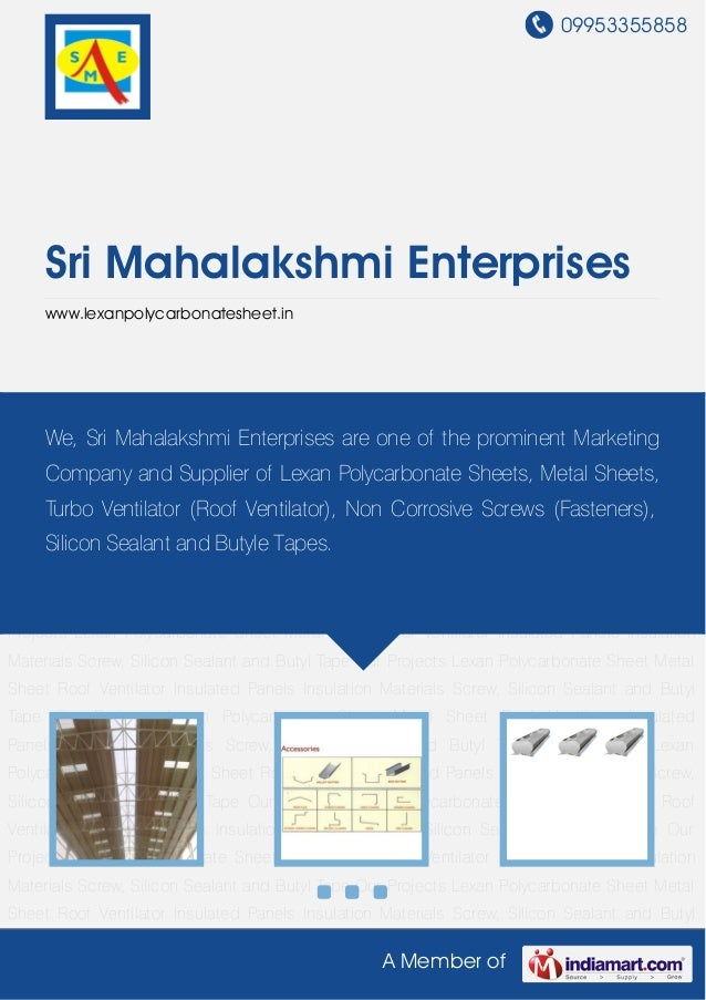 Lexan Polycarbonate Sheet by Sri mahalakshmi enterprises