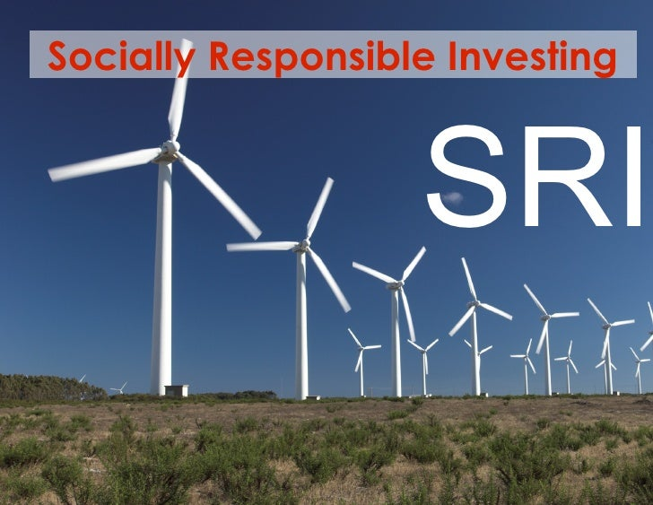 Socially Responsible Investing SRI