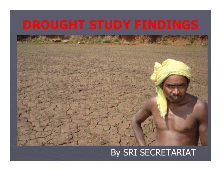 SRI Drought Study Report