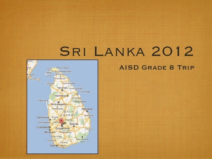 Sri lanka info