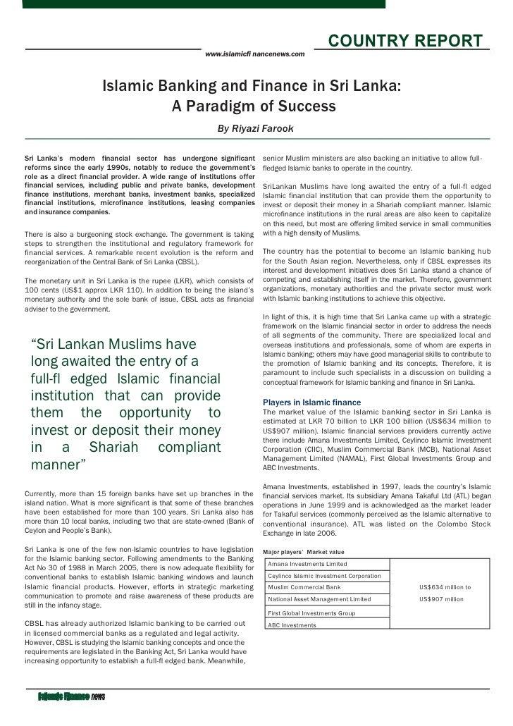 COUNTRY REPORT                                                        www.islamicfi nancenews.com                         ...