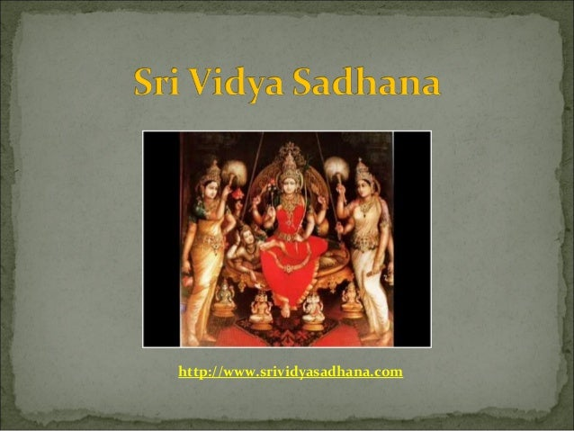 http://www.srividyasadhana.com