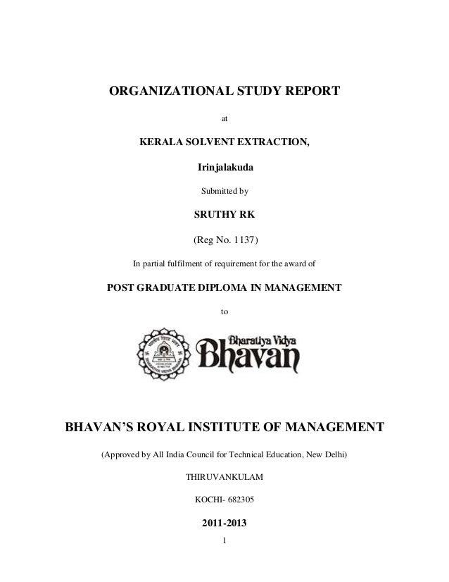 SRUTHY RK.KSE IRINJALAKUDA ORGANIZATION STUDY