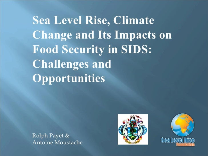 Rolph Payet & Antoine Moustache Sea Level Rise, Climate Change and Its Impacts on Food Security in SIDS: Challenges and Op...