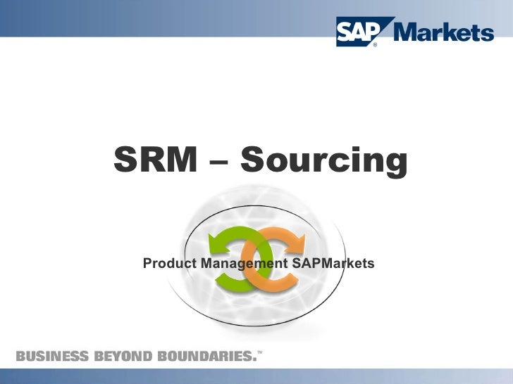 SRM Sourcing - Overview